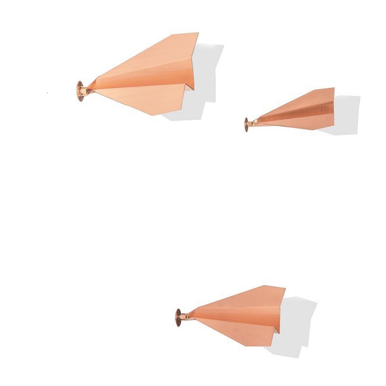 Escultura Trio Aviaozinho de Parede P | cobre
