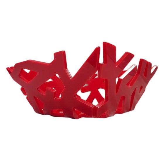 Fruteira Quadrada Metacrilato |  vermelho