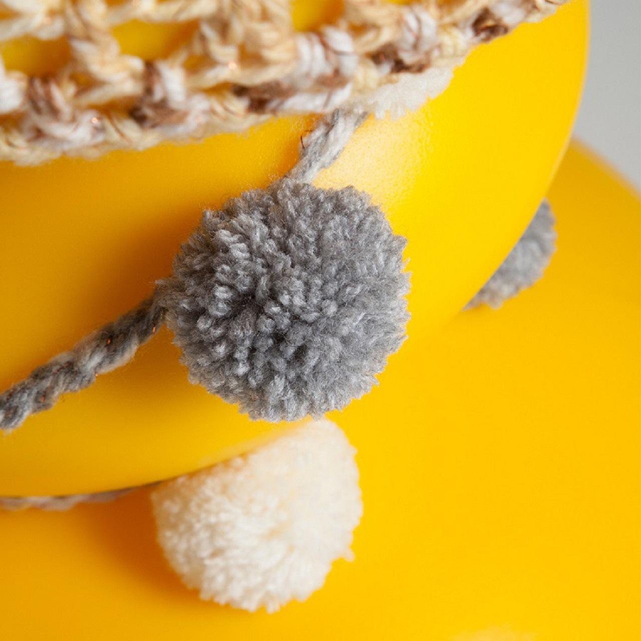 Goma por 13pompons | amarelo