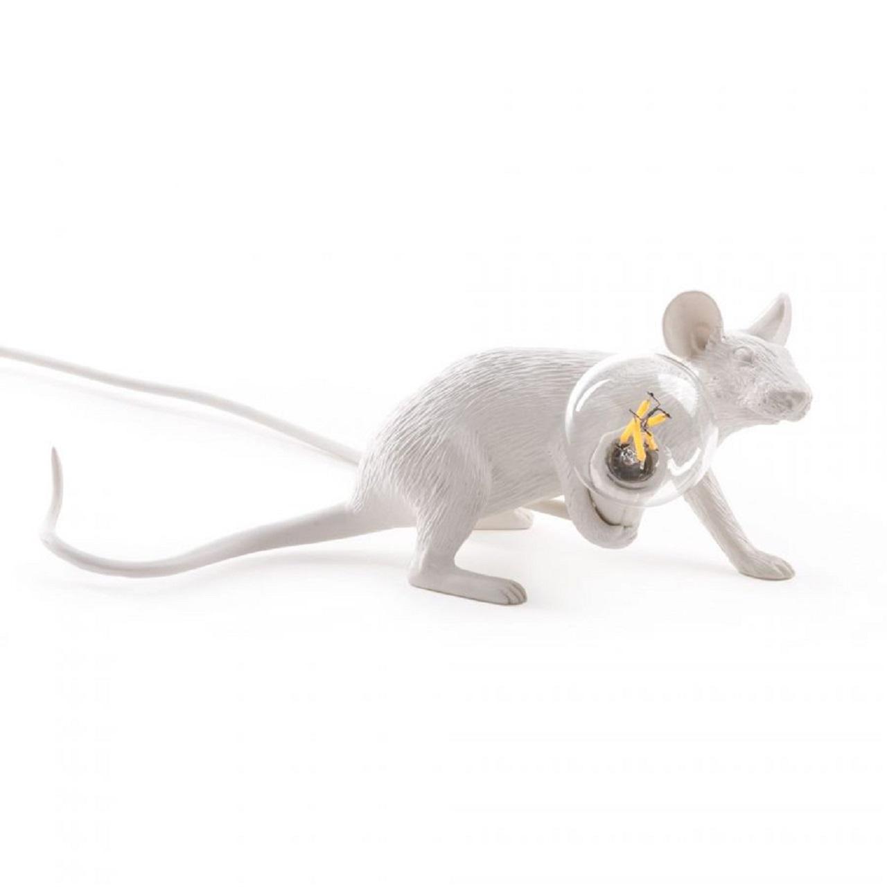 Luminária Mouse Deitado | branco