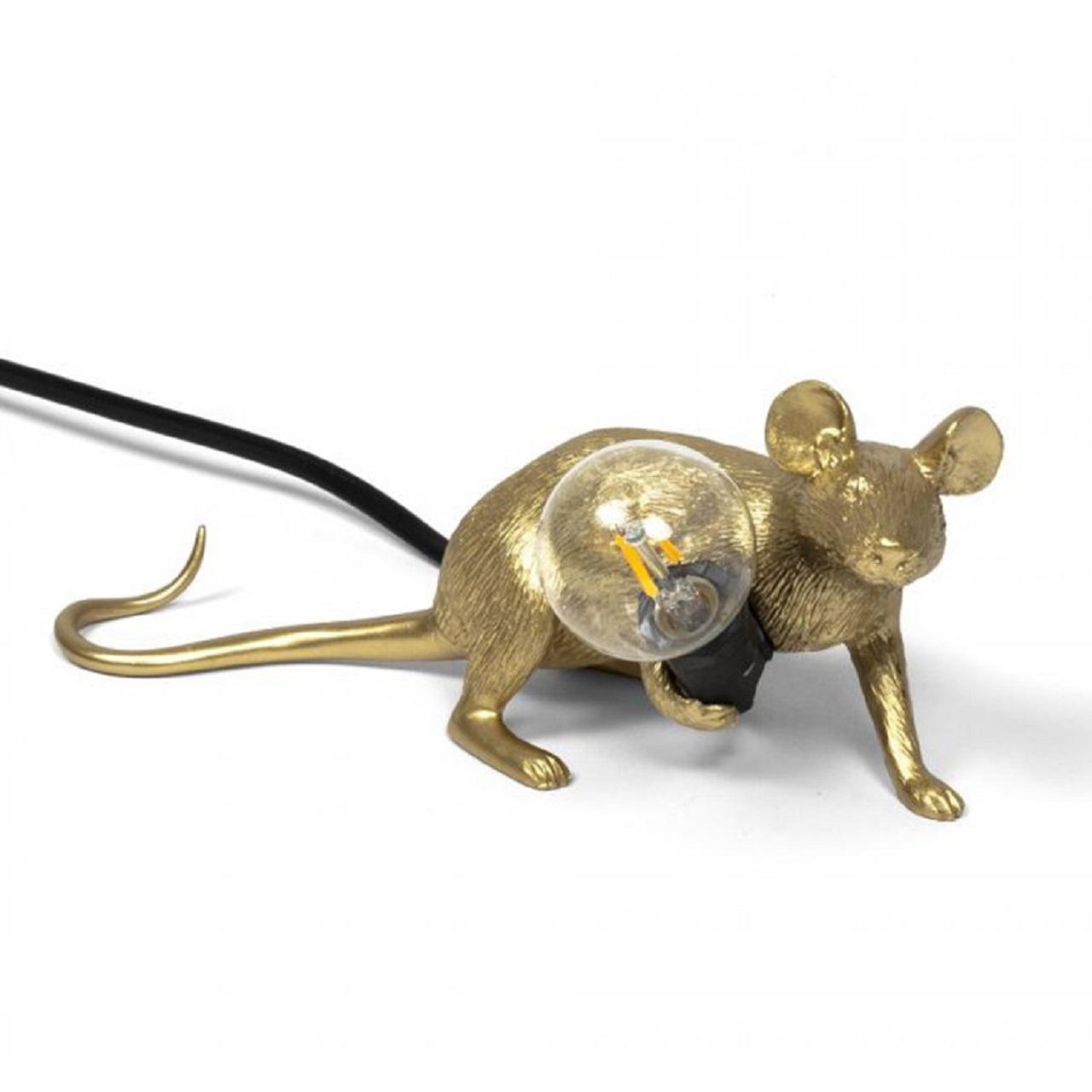 Luminária Mouse Deitado | dourado