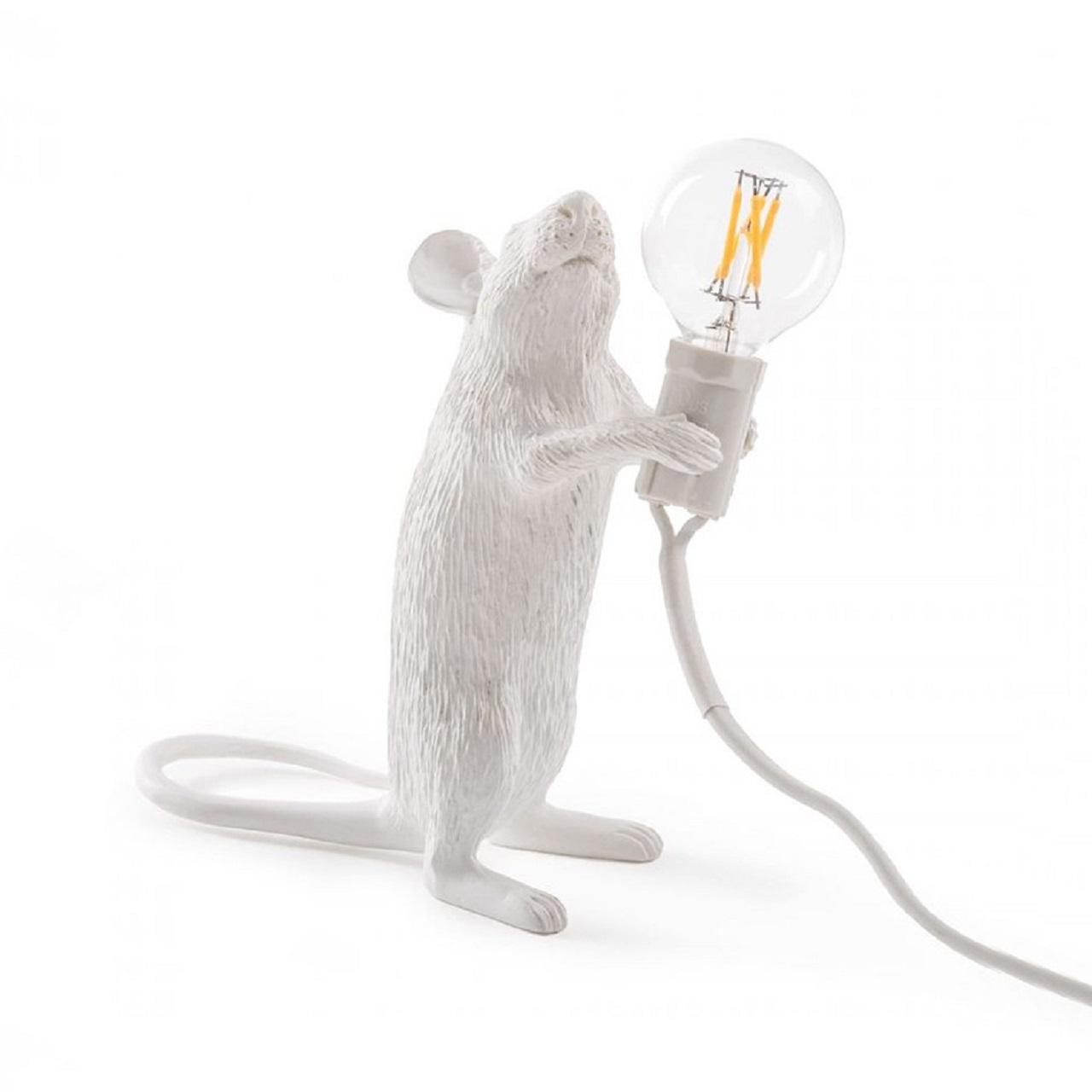 Luminária Mouse em Pé | branco