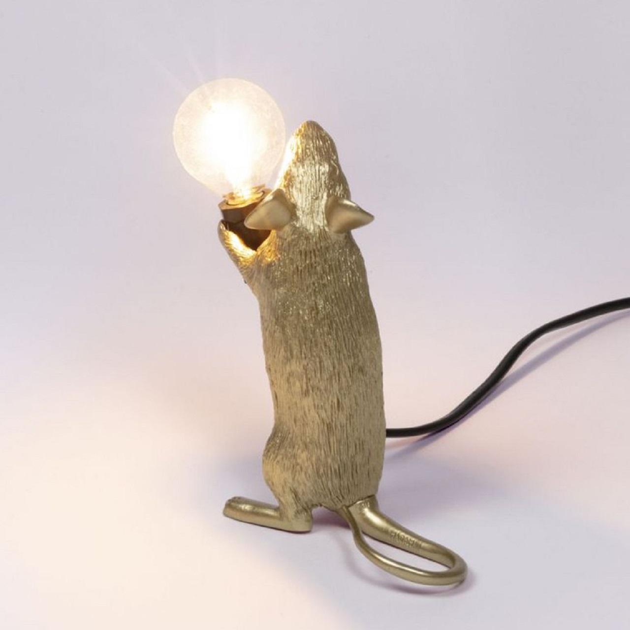 Luminária Mouse em Pé | dourado
