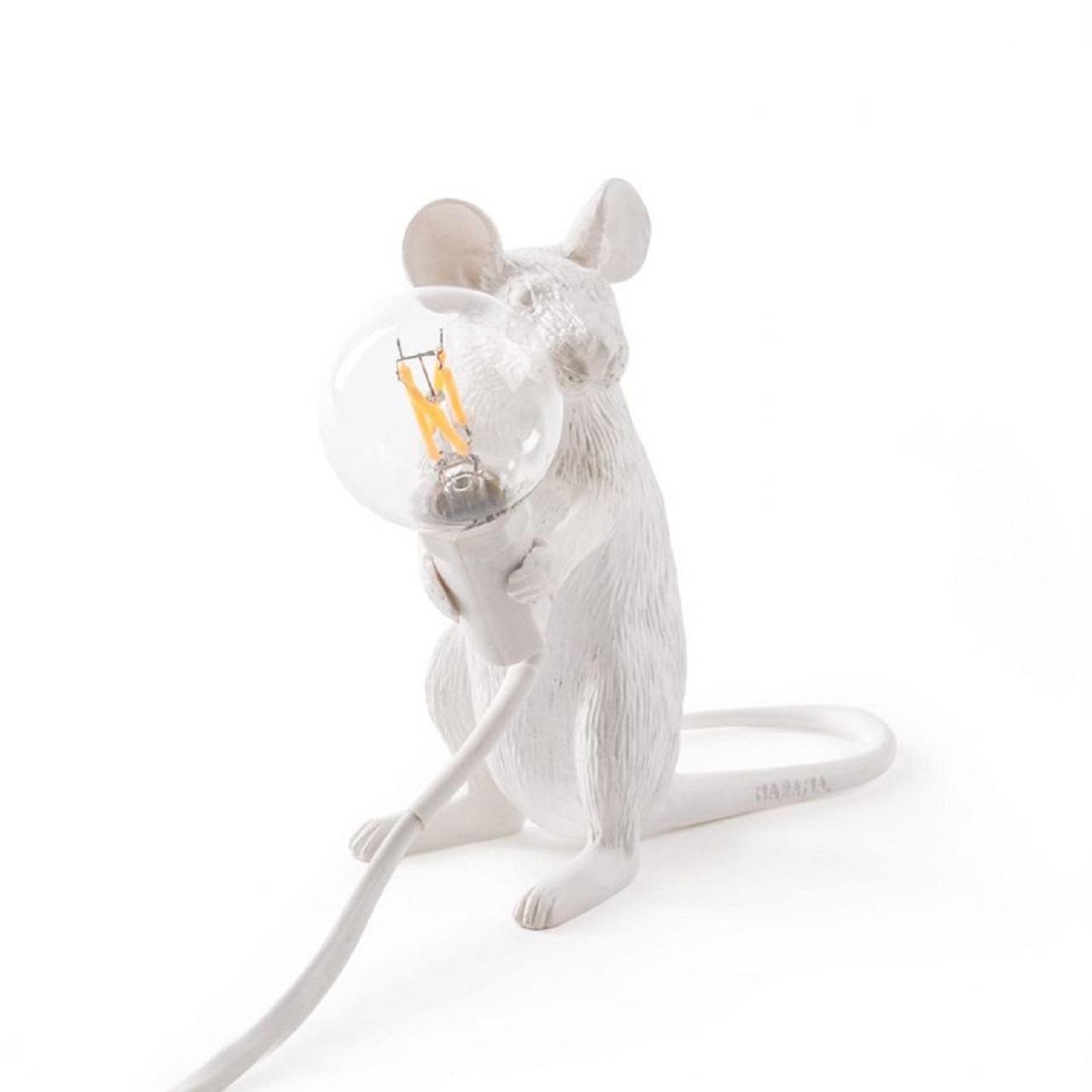 Luminária Mouse Sentado | branco