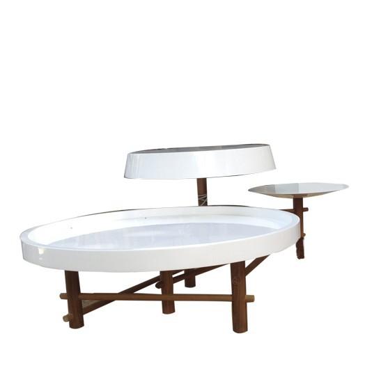 Mesa de Centro Mac Branca Semi Brilho