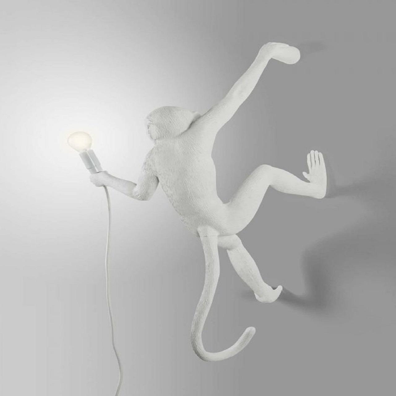 Monkey Lamp pendurado direita | Branco