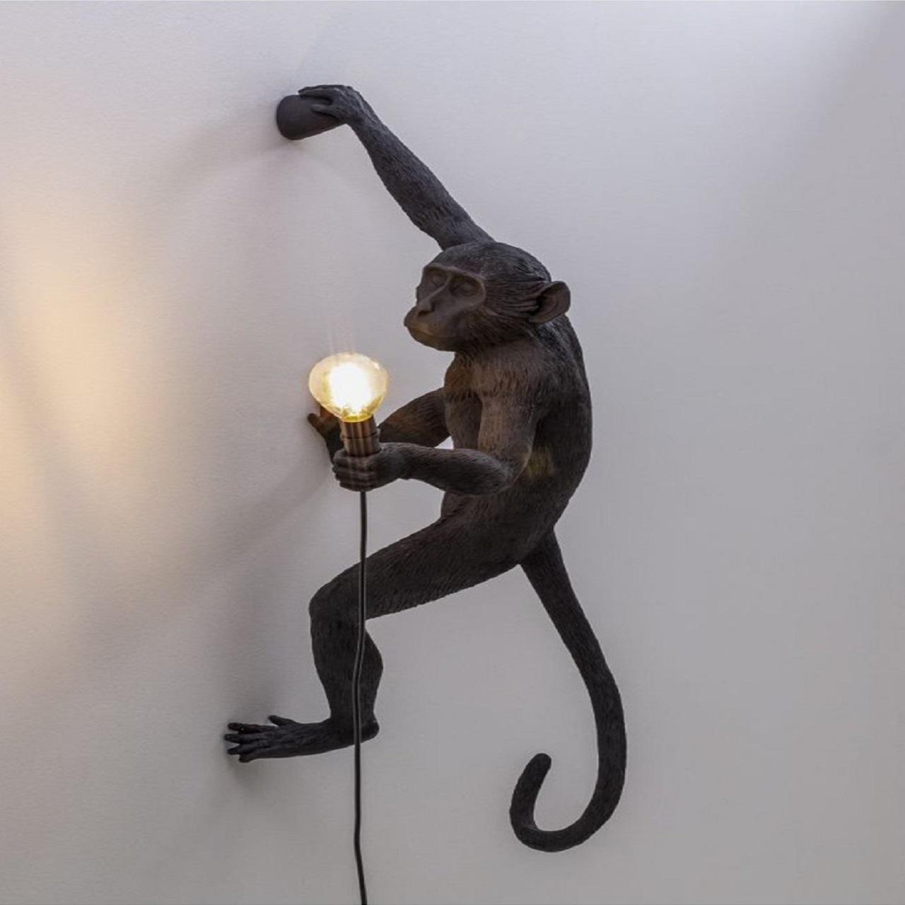 Monkey Lamp pendurado direita   Preto
