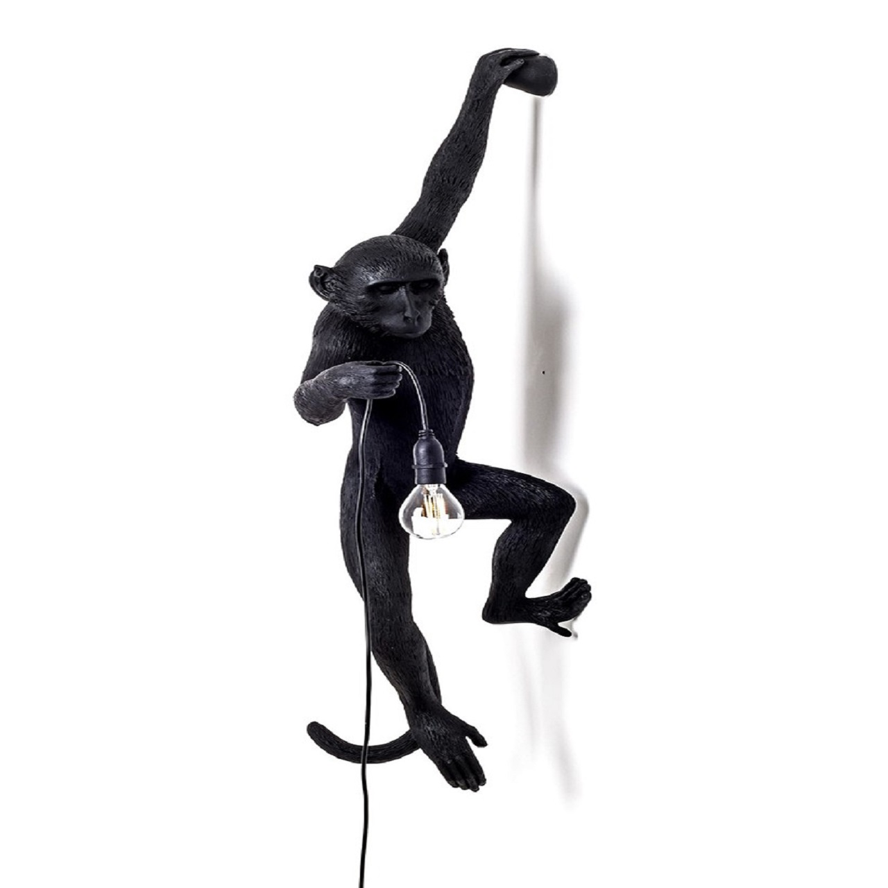Monkey Lamp pendurado esquerda   Preto