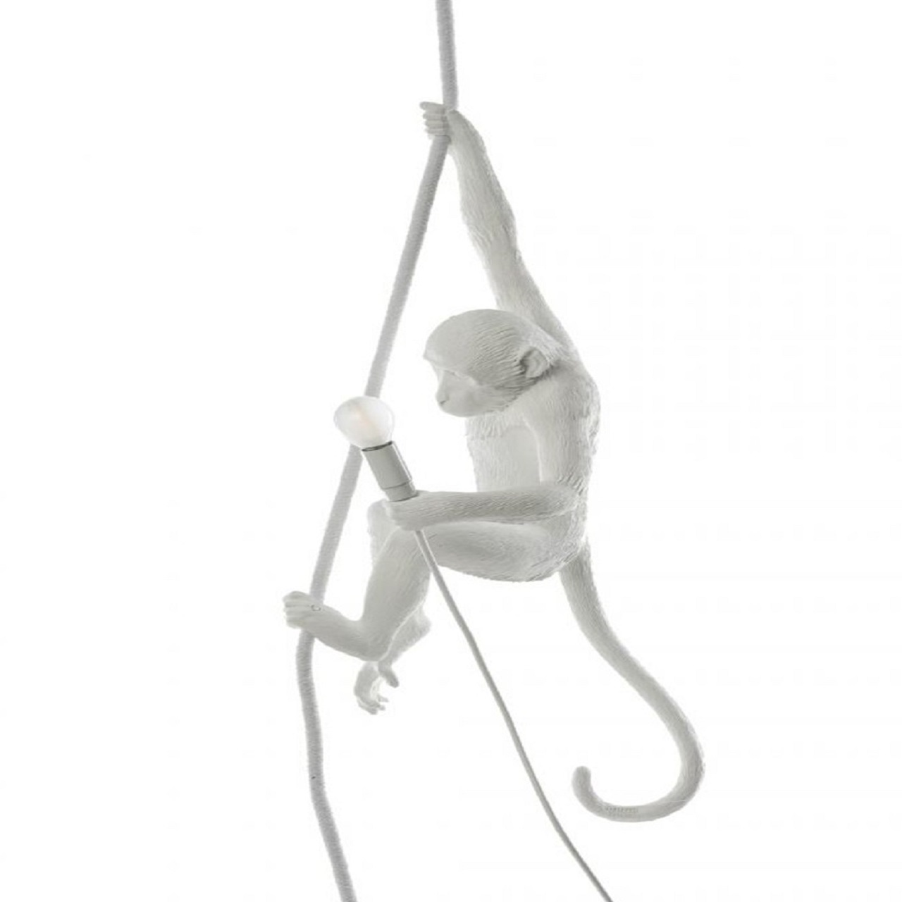 Monkey Lamp pendurado teto | Branco