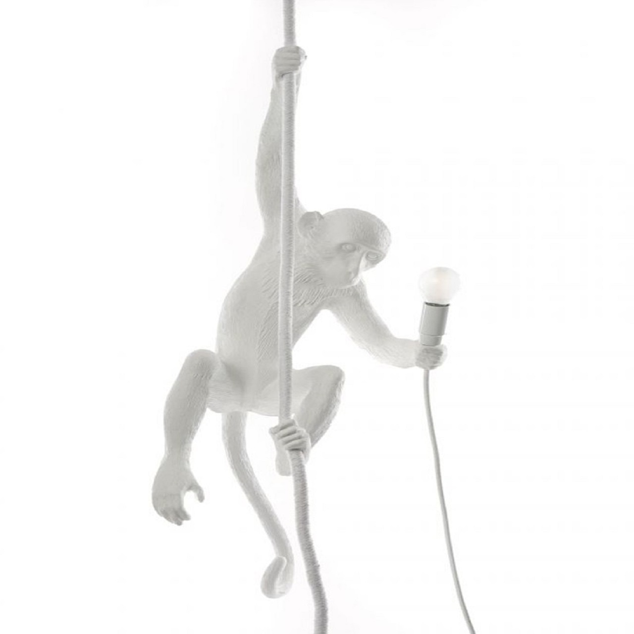Monkey Lamp pendurado teto   Branco