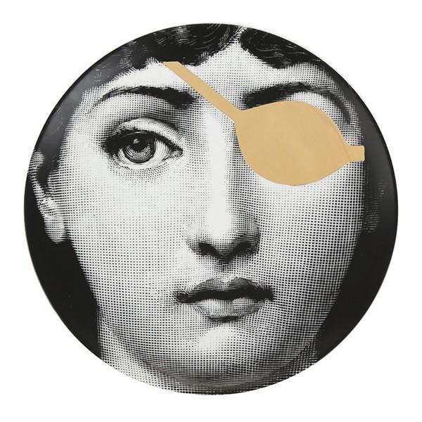 Prato de Parede T E V 008 | preto, branco e dourado
