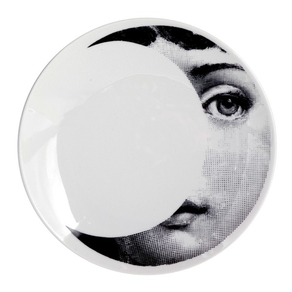 Prato de Parede T e V 039  | branco e preto