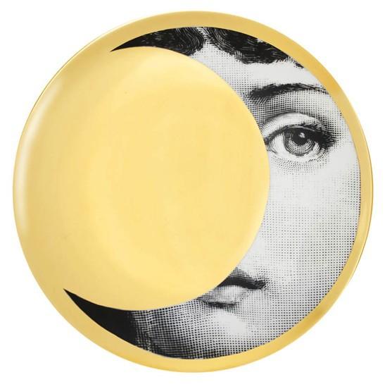 Prato de Parede T e V 039 | branco preto e dourado