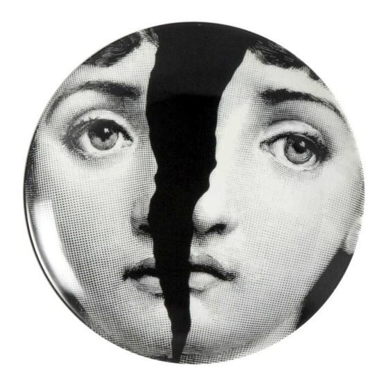 Prato de Parede T e V 10 |  branco e preto