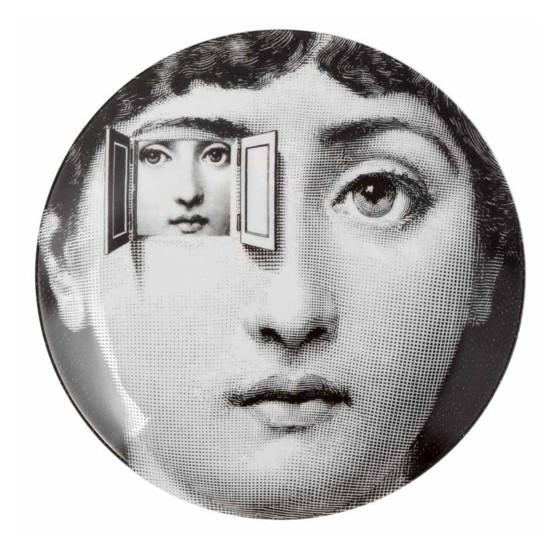 Prato de Parede T E V 116 |  branco e preto