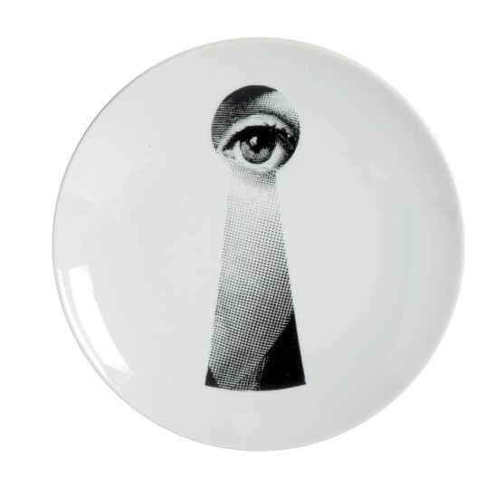 Prato de Parede T e V 14 |  branco e preto