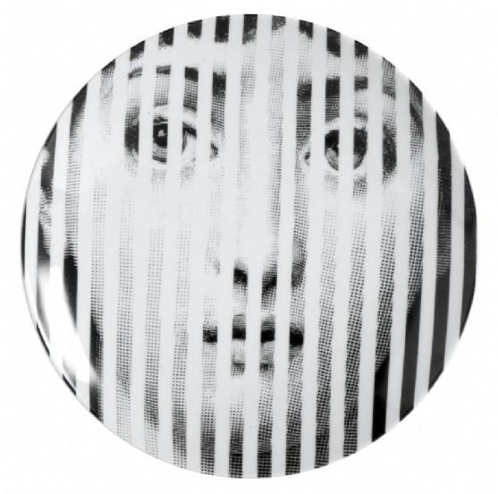 Prato de Parede T E V 34 |  branco, preto e dour