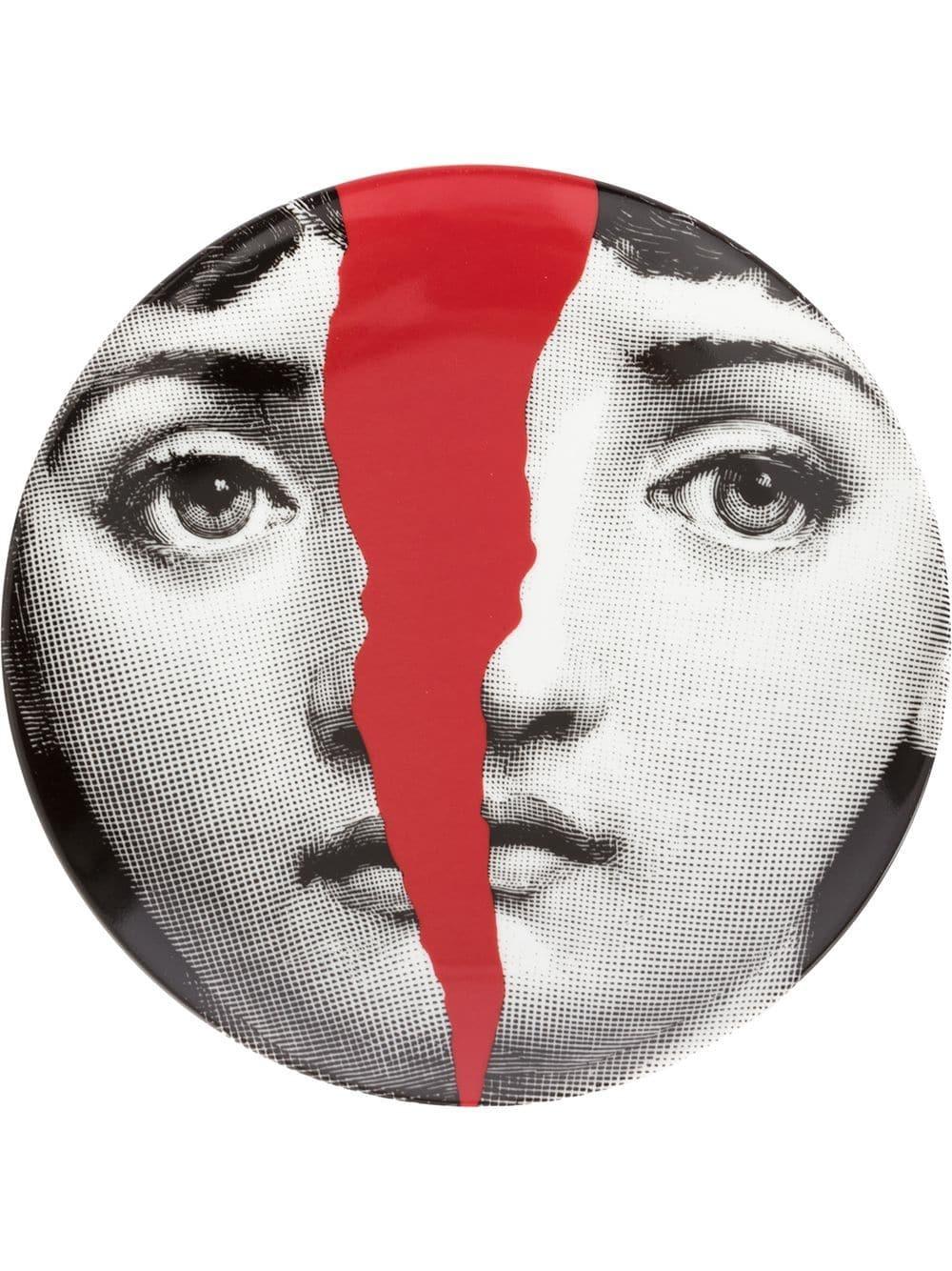 Prato De Parede T E V N10 | branco preto e vermelho