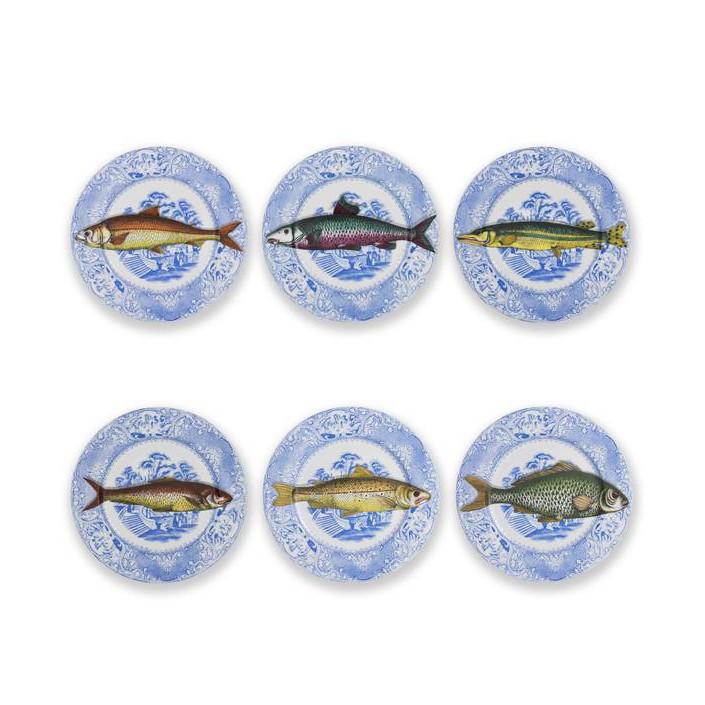 Ser 6 Plates Piscibus Colour