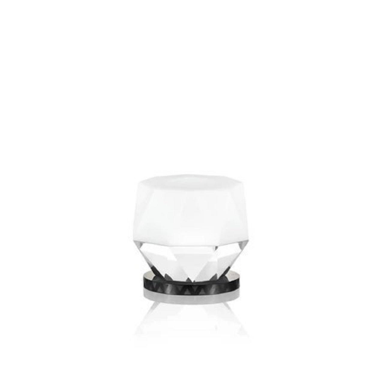 Suporte T-LIght Kansas | branco e cristal