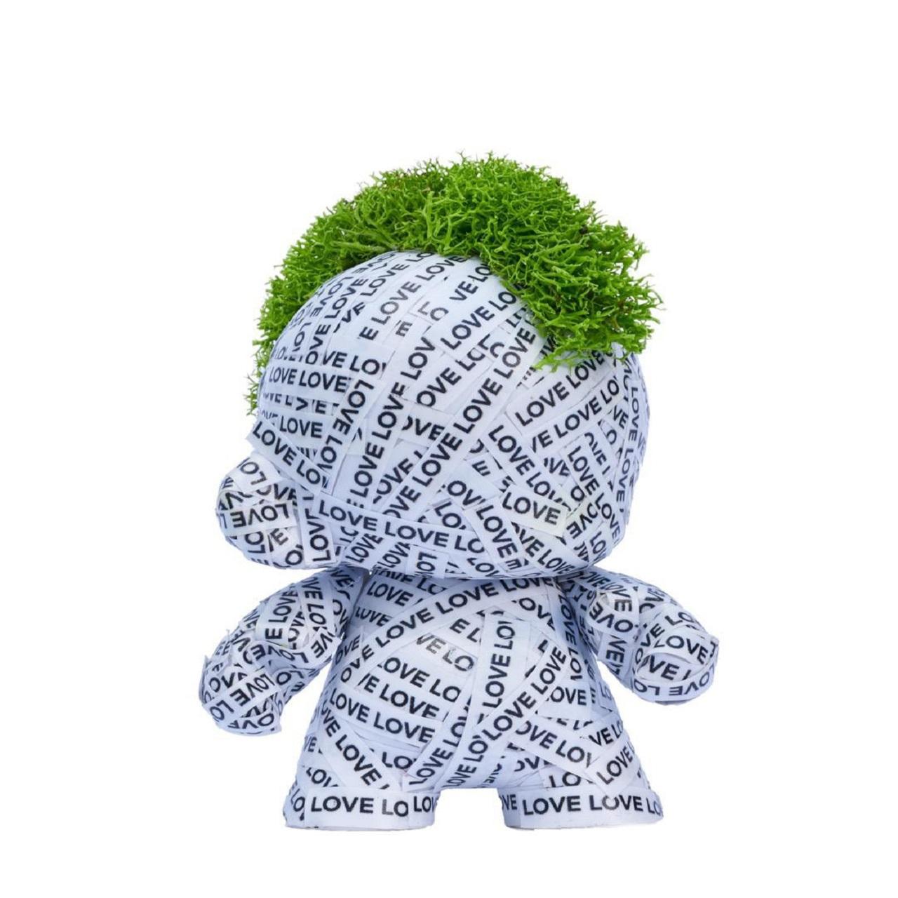Toy Mini Munny Adesivado Love | branco
