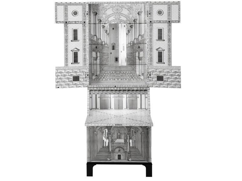 Trumeau Architettura branco e Preto