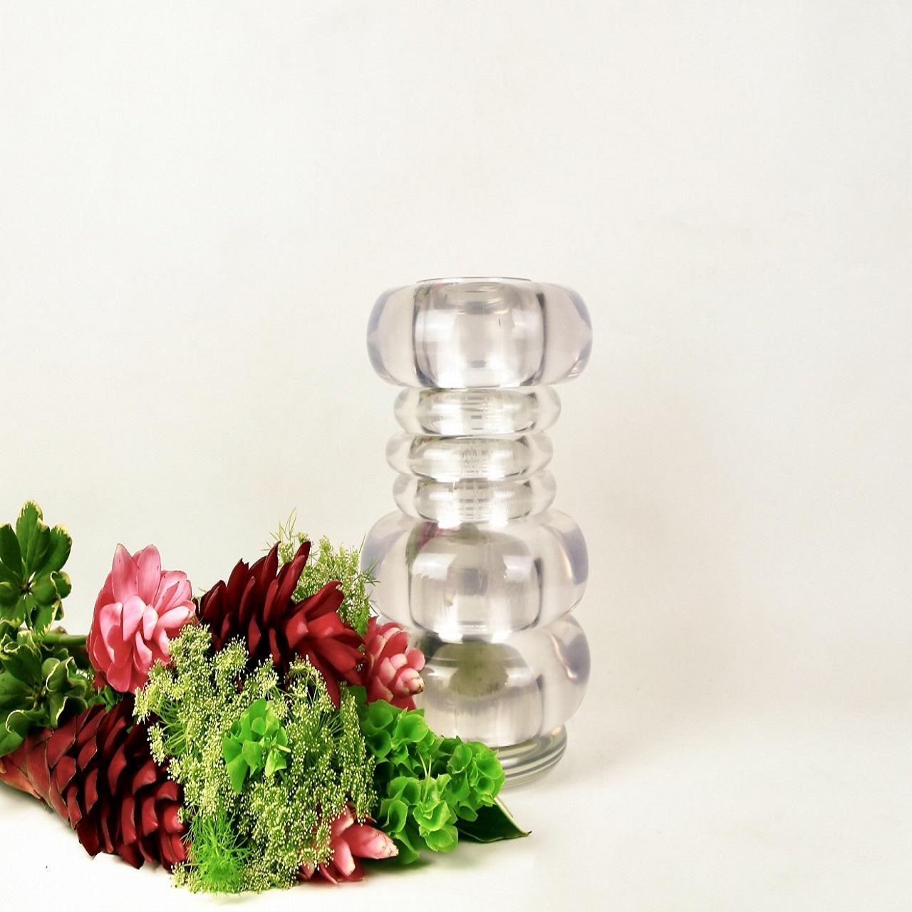 Vaso Argolas G Cristal Incolor Transparente