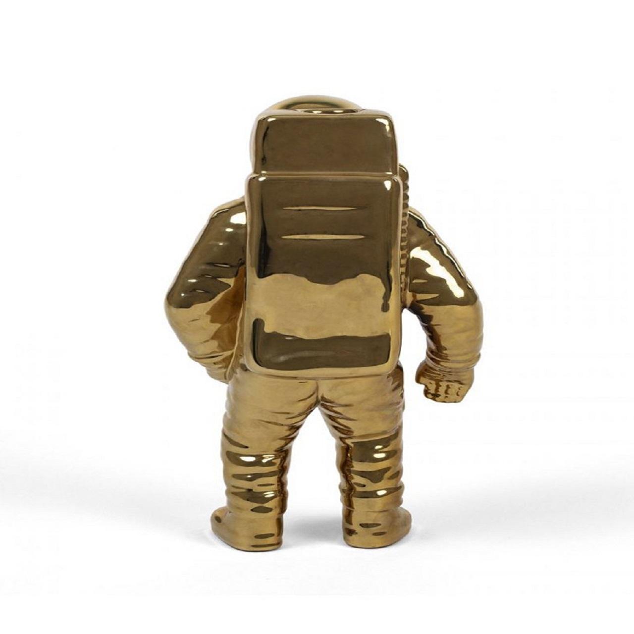 Vaso Astronauta   dourado