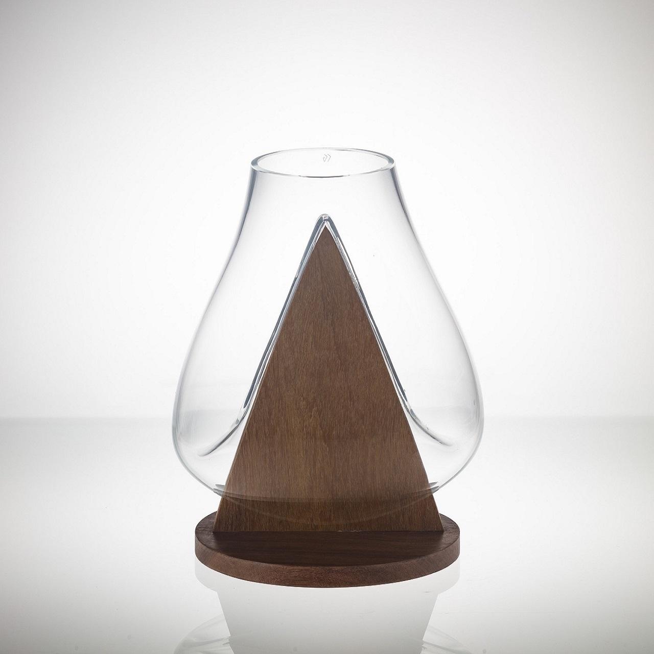 Vaso Bauhaus Coroa Base Triângulo |incolor