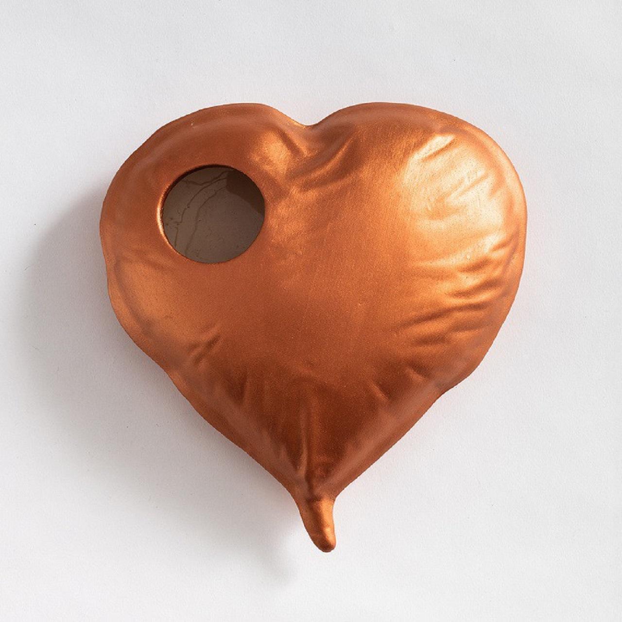 Vaso Coração | cobre