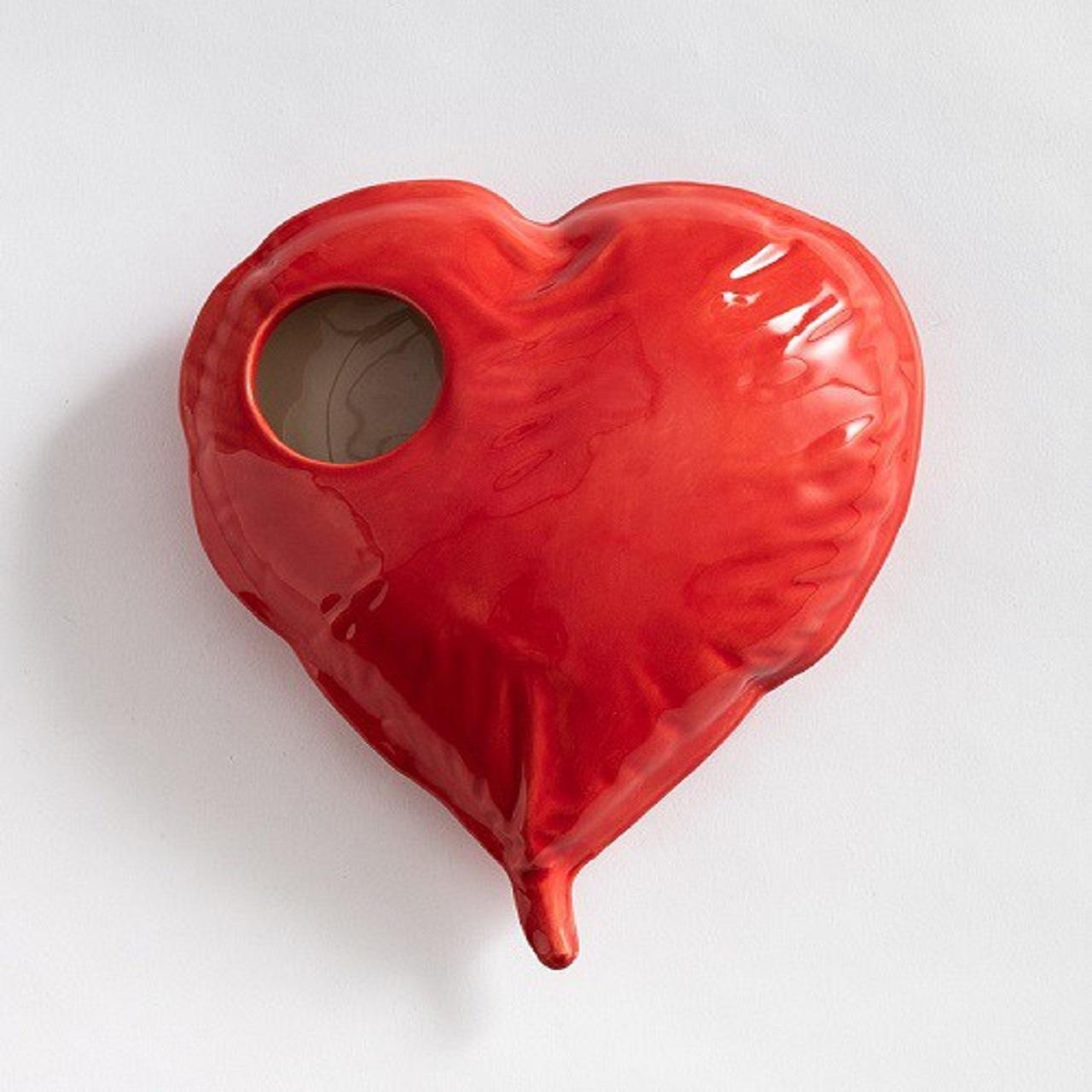 Vaso Coração | vermelho