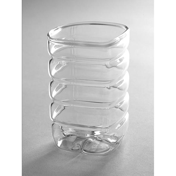 Vaso Garrafa Pequeno   transparente