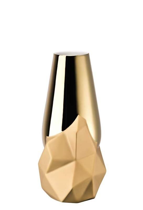 Vaso Geode | dourado