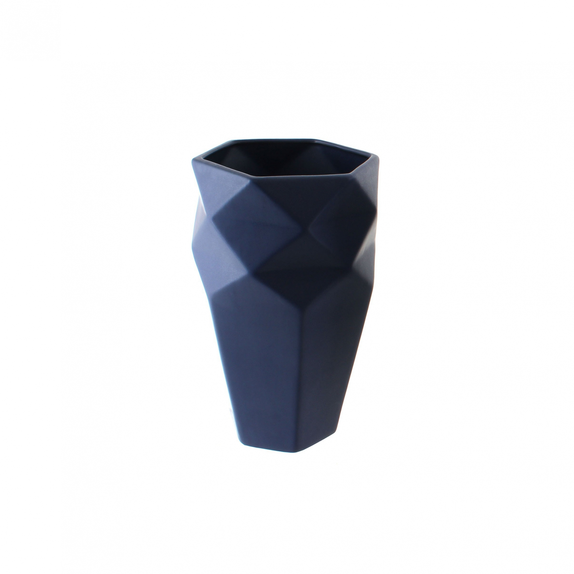Vaso Geometrico Azul