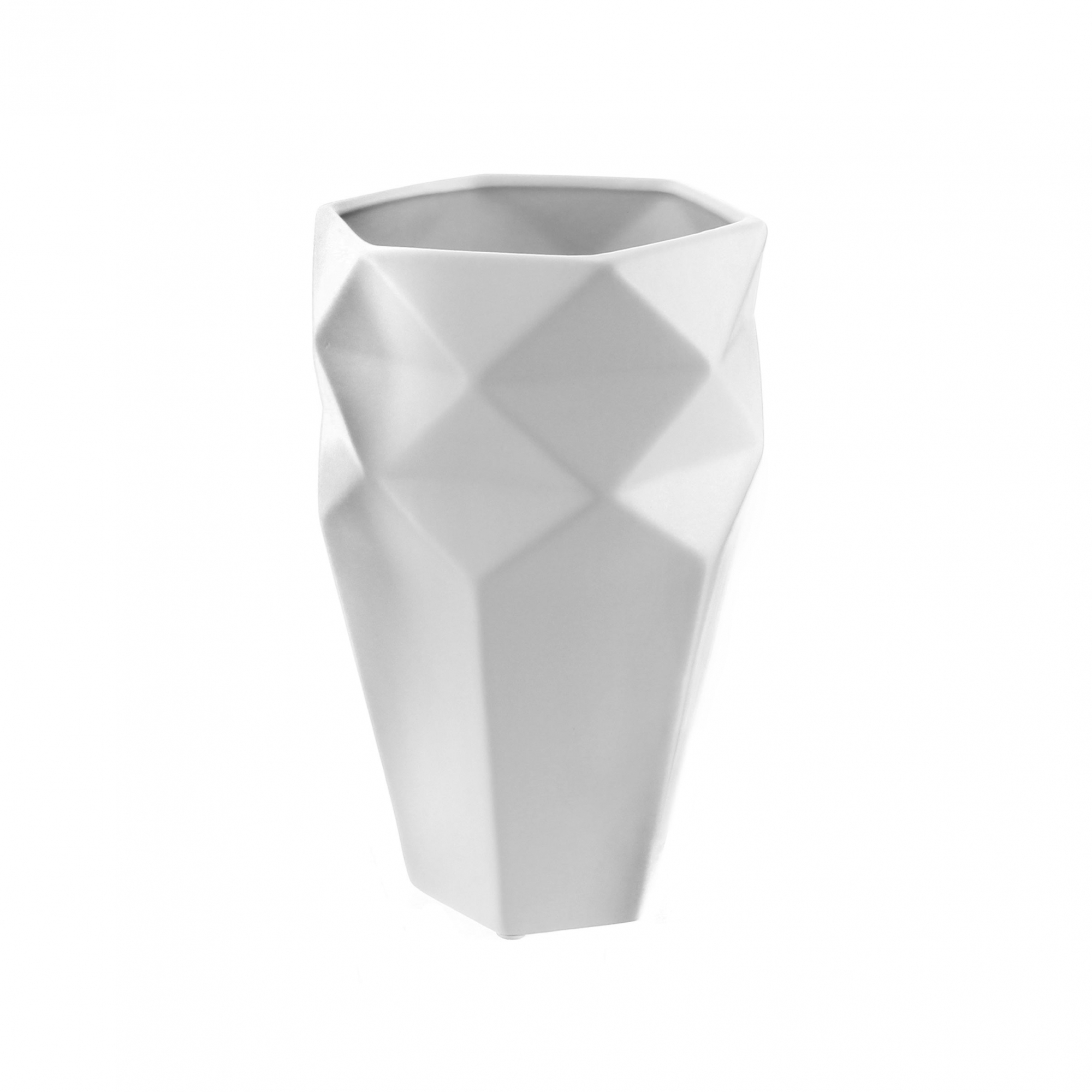 Vaso Geometrico Branco
