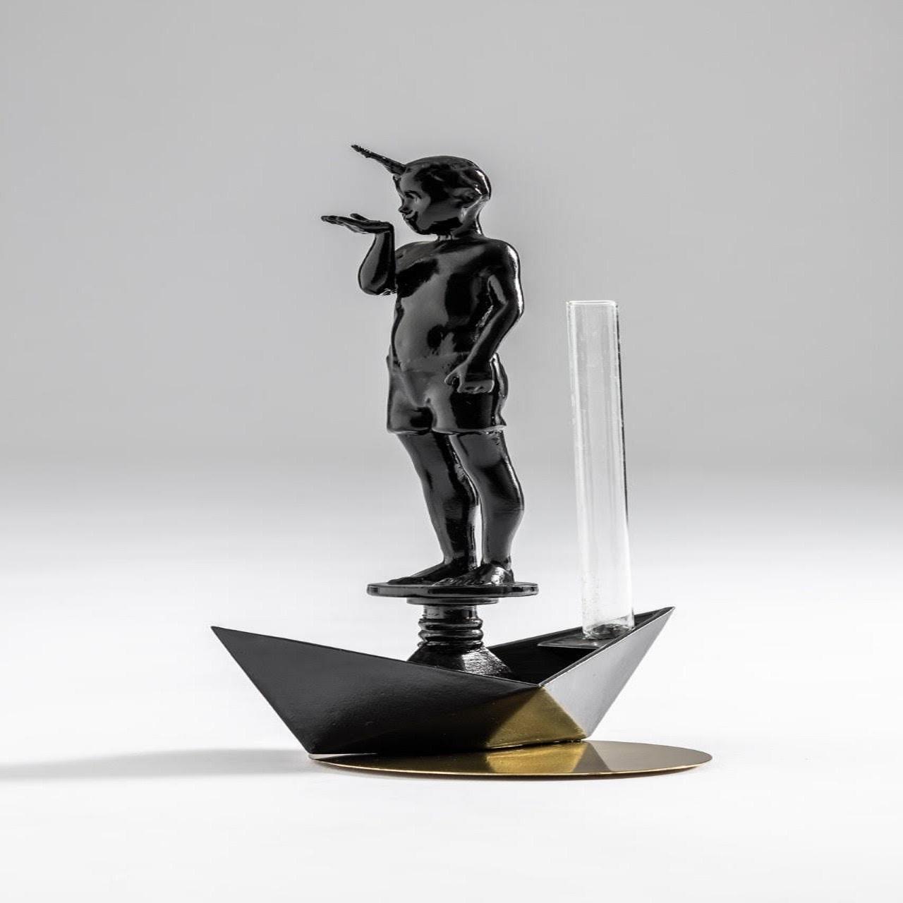 Vaso Mestiço N.6 Menino Barco | preto