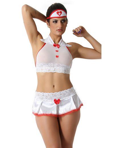 Fantasia Enfermeira Sexy 6 peças
