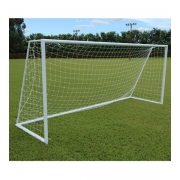 Rede De Futebol De Campo Standard - Fio 3mm Polipropileno Seda (Par)