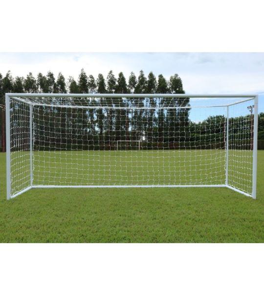 Rede De Futebol De Campo Europeu - Fio 3mm Nylon (Par)