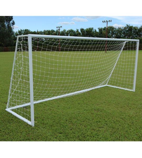 Rede De Futebol De Campo Standard - Fio 3mm em Seda (Par)
