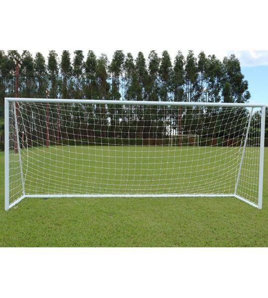 Rede De Futebol De Campo Standard - Fio 4mm em Seda (Par)