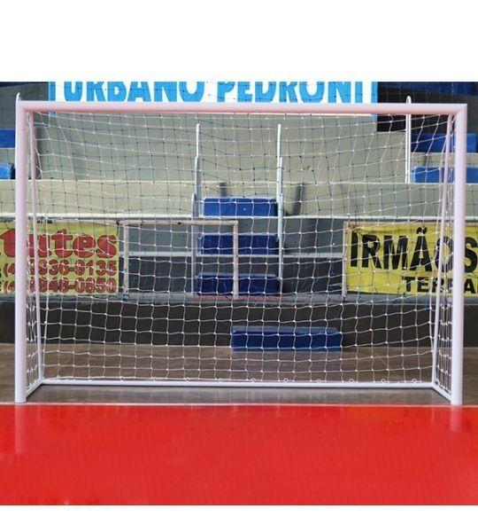 Rede De Futebol De Salão (Futsal) - Fio 6mm em Seda (Par)
