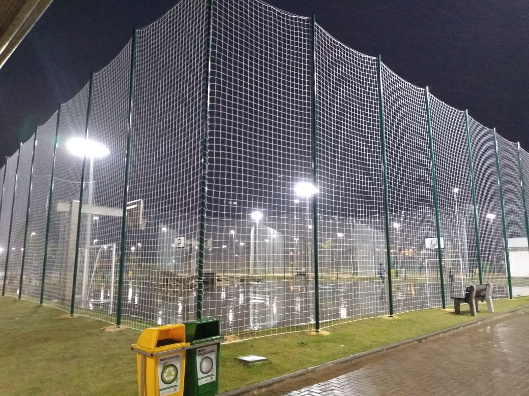 Rede De Proteção Fio 2mm Em Polipropileno M²(Seda) Malha Salão (Futsal)