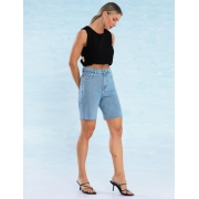 Bermuda Jeans Feminina com Corte à Fio Amelie