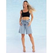 Bermuda Jeans Feminina Oversized Narbona