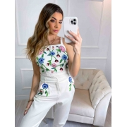 Calça Jeans Feminina Bordada Atelier Diamond