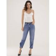 Calça Jeans Feminina com Regulagem Baggy Argo