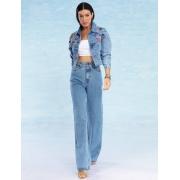 Calça Jeans Feminina Wide Leg Gaia