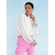 Camisa Feminina Atelier Bordada Ametista
