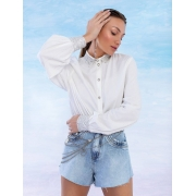 Camisa Feminina Atelier Bordada Cristal
